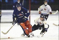 Хоккей с мячом. Первые матчи 2007 года.